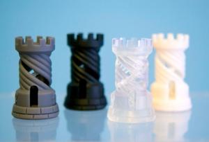 Stéréolithographie de 4 objets photopolymer obtenus par impression 3D - Prototype & Série